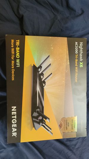 Nighthawk x6 router for Sale in Bowie, MD