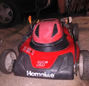 HOMETLITE ELECTRIC LAWNMOWER $85 TODAY PERFECT CONDITION for Sale in Dallas, TX