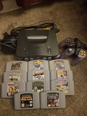 Nintendo 64 1 controller with 11 games for Sale in North Olmsted, OH