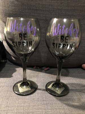 Witches Be Sippin Wine Glasses for Sale in Bel Air, MD
