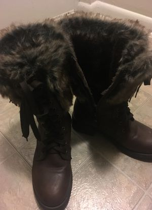 Dark Brown Leather Boot Size 8 for Sale in Aspen Hill, MD