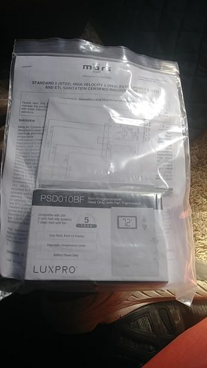 Lux pro thermostat for Sale in Tacoma, WA