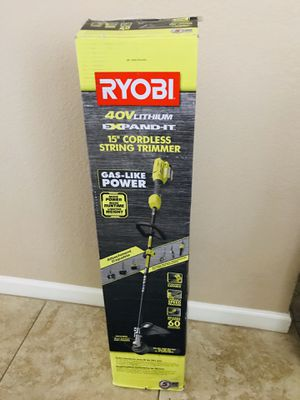RYOBI 40-Volt Lithium-Ion Cordless Attachment Capable String Trimmer, 4.0 Ah Battery and Charger Included for Sale in Phoenix, AZ