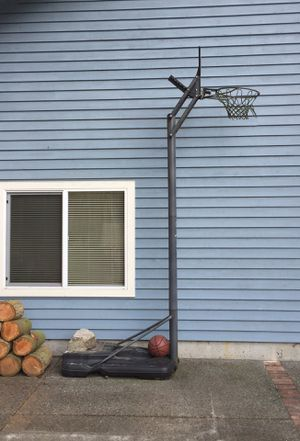 Adjustable Basketball Hoop and Ball for Sale in Brier, WA