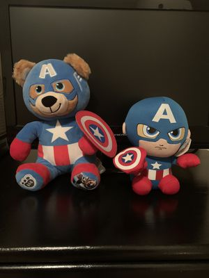 Captain America BAB and Plush Toy for Sale in Simpsonville, SC