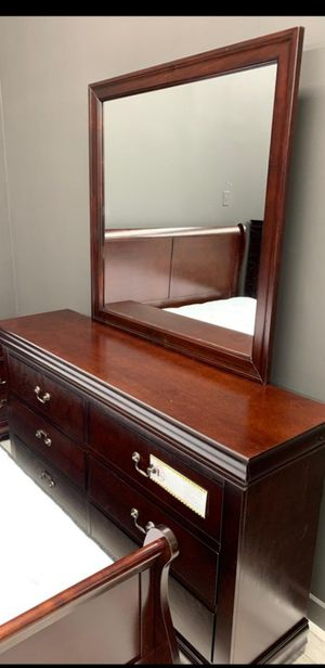 Louis Philip Cherry Sleigh Bedroom Set by Crown Mark for Sale in Silver Spring, MD