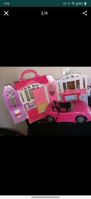 Barbie house and car for Sale in Phillips Ranch, CA