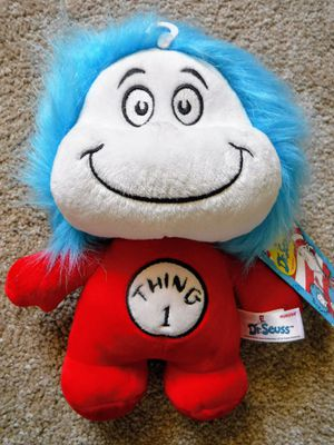 Thing 1 and thing 2 dr. Seuss official brand stuffed animal plushie toy for Sale in San Leandro, CA
