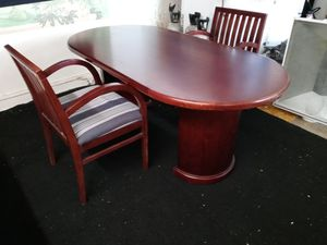 Conference Table w/2 Chairs for Sale in Blackstone, MA