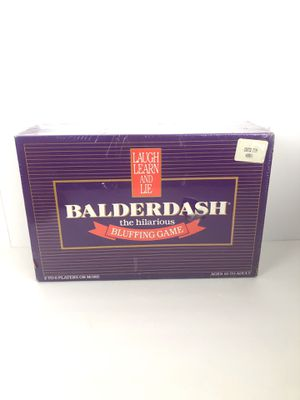 Balderdash The Hilarious Bluffing Game 1984 Edition NIS New Unopened for Sale in Manteca, CA