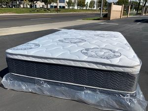 King Size Diamond Collection Pillow Top Mattress Set! for Sale in Highland, CA
