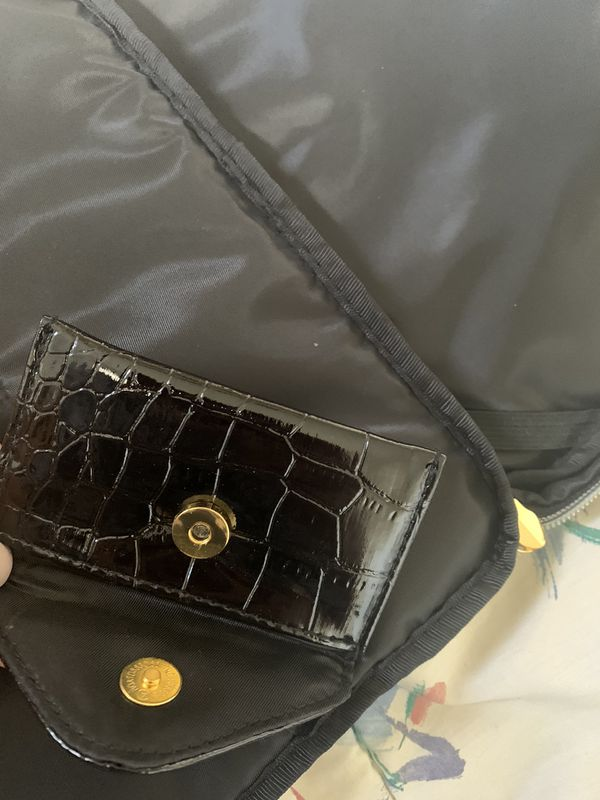 "Valet travel Cosmetic/ tablet/iPad Bag With Card Holder Attached.. Condition is ""New with tags"". 11""X8"" with handles 10.5""X8"" opened all the way 23""X"