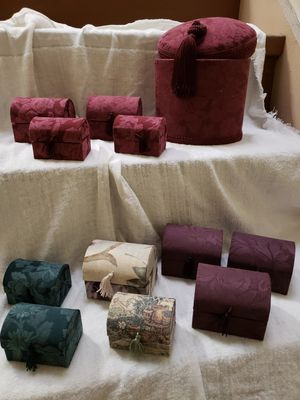 Decorative keepsake boxes fabric covered, Sm$5/Med$8/Lg$20/OBO for Sale for sale  New York, NY