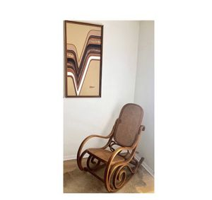 VINTAGE BOHO CHIC CANE ROCKING CHAIR for Sale in Long Beach, CA