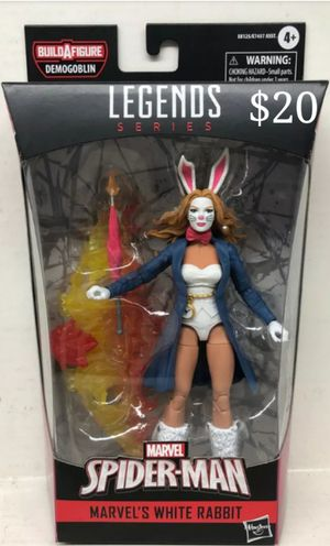 Marvel Legends White Rabbit Collectible Action Figure Toy with Demogoblin Build a Figure Piece for Sale in Chicago, IL