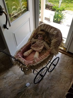 Antique baby doll carriage for display for Sale in Woodbury, NJ