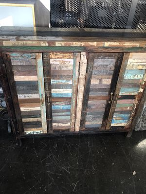 Solid Oak Custom Antique Cabinet with shelves for Sale in Long Beach, CA