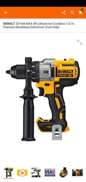 DEWALT 20-Volt MAX XR Lithium-Ion Cordless 1/2 in. Premium Brushless Drill Driver (Tool-Only) for Sale in Dumfries, VA