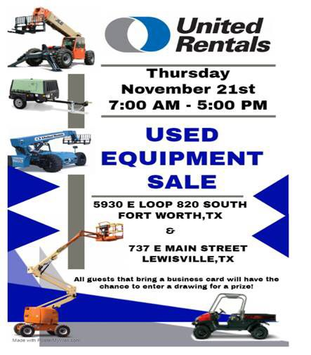 Used equipment deals!