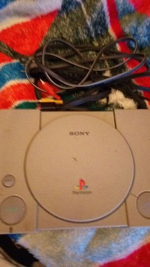 Original Playstation One no controllers comes with power and video cables. for Sale in Dallas, TX