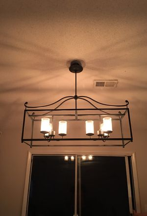 Rectangular chandelier with Edison bulbs for Sale in High Point, NC