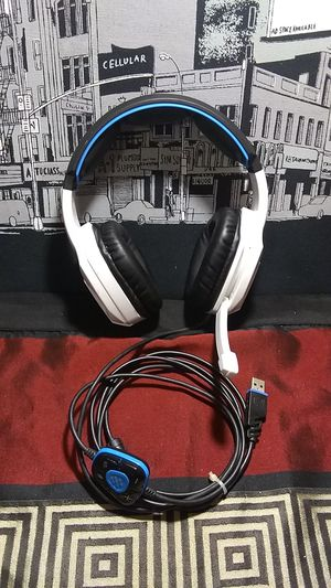 SADES Spirit Wolf 7.1 Surround Stereo Sound USB Computer Gaming Headset for Sale in Spring Valley, CA