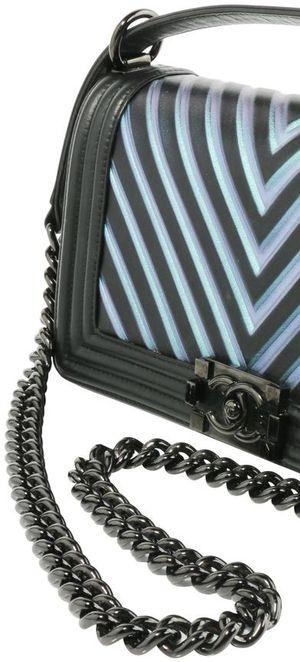 Chanel Boy Classic Flap Iridescent Blue Calfskin Leather Shoulder Bag for Sale in Las Vegas, NV