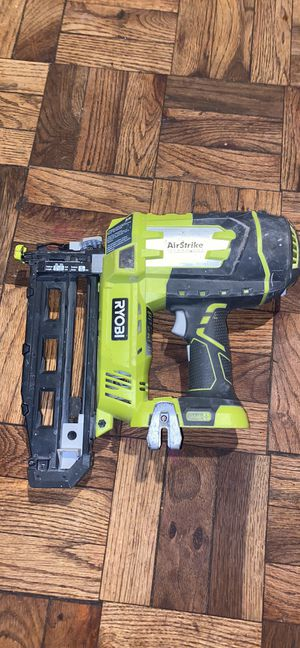 18-Volt ONE+ Lithium-Ion Cordless AirStrike 16-Gauge Cordless Straight Finish Nailer for Sale in Silver Spring, MD