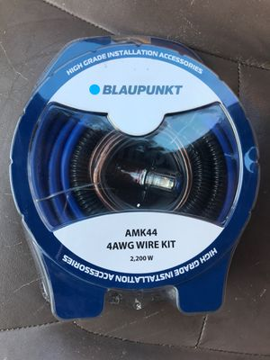 4 gauge car audio complete wiring kit blaupunkt brand for Sale in Spring Valley, CA