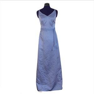David's Bridal Blue Shiny Formal Maxi Dress for Sale in Las Vegas, NV