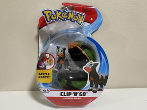 Pokemon Clip N Go HOUNDOUR & DUSK BALL Figure 2020 Battle Ready for Sale in Coconut Creek, FL