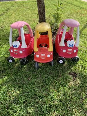 Set of 3 Little Tykes Cozy Coupes Cars for Sale in West Palm Beach, FL