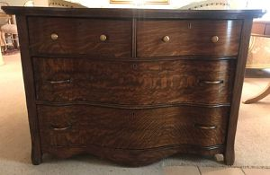 Antique Tigerwood Tiger Oak Wood 4 drawer rustic buffet table chest of Drawers entry table for Sale in Tempe, AZ