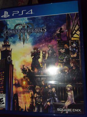 Kingdom hearts 3 PS4 for Sale in Fontana, CA