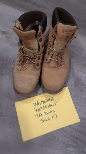 Size 10 Wolverine work boots for Sale in Citrus Heights, CA