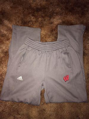 Adidas Wisconsin joggers size M for Sale in Menomonie, WI