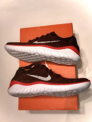 New Men's Nike Free RN Flyknit 2018 Crimson/Black Size #942838 602 RARE! for Sale in Zachary, LA