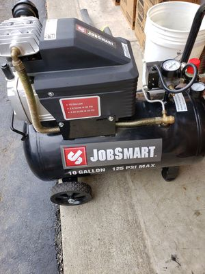 Jobsmart 10 gallon air compressor with hose! for Sale in Pickerington, OH
