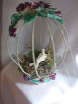 Vintage Victorian Hanging Bird in Cage for Sale in Pittsburgh, PA