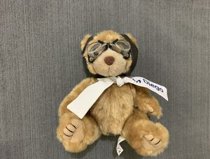 Aviator Pilot Teddy Bear With Goggles Hat San Diego Scarf Used for Sale in Happy Valley, OR