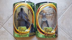 LORD OF THE RINGS ACTION FIGURES (WITCH KINGRING WRAITH & LEGOLAS) for Sale in Escondido, CA