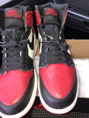 AIR JORDAN 1 RETRO HIGH OG BG (GS) 'BRED TOE' for Sale in Montclair, VA