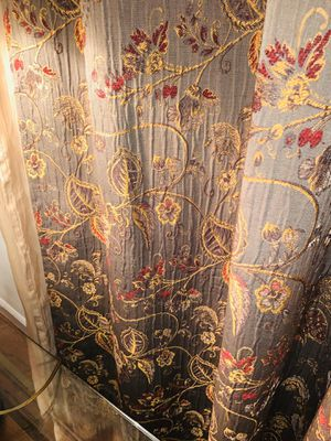 Bed bath embordered jacquard curtain panels (2 piece) for Sale in Fairfax Station, VA