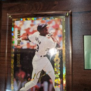 Michael Jordan Baseball Rookie Of The Year Card for Sale in Falls Church, VA