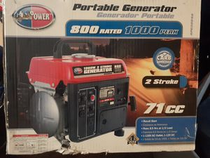 All Power 1000 W 2 stroke portable generator for Sale in Indianapolis, IN