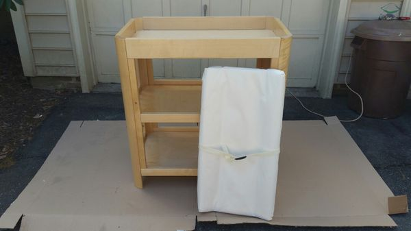 Moving Sale: Crib, Changing Table, and Mattress/Pad Set