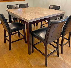 Marble Montibello dining table/chairs for Sale in Pawtucket, RI
