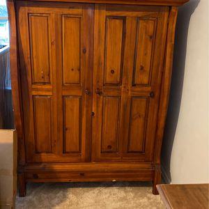 Vintage Wood Armoire- Minimal Wear And Tear for Sale in Ridgewood, NJ