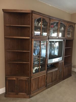 TV And Entertainment Center , 5 pc Wall unit for Sale in San Jose, CA