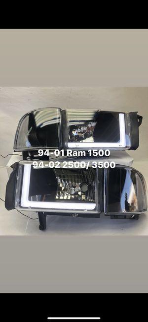 94-01 Dodge Ram 1500 94-02 Dodge Ram 2500/3500 LED headlights for Sale in Los Angeles, CA